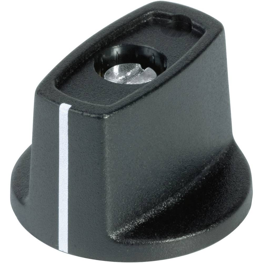 OKW Gumb sa zatikom promjera 31 mm crna promjer osi 6 mm