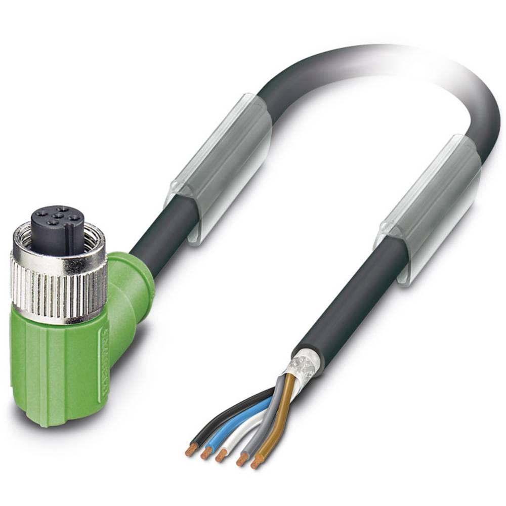 Sensor-, aktuator-stik, M12 Tilslutning, vinklet 10 m Pol-tal (RJ): 5 Phoenix Contact 1500761 SAC-5P-10,0-PUR/M12FR SH 1 stk