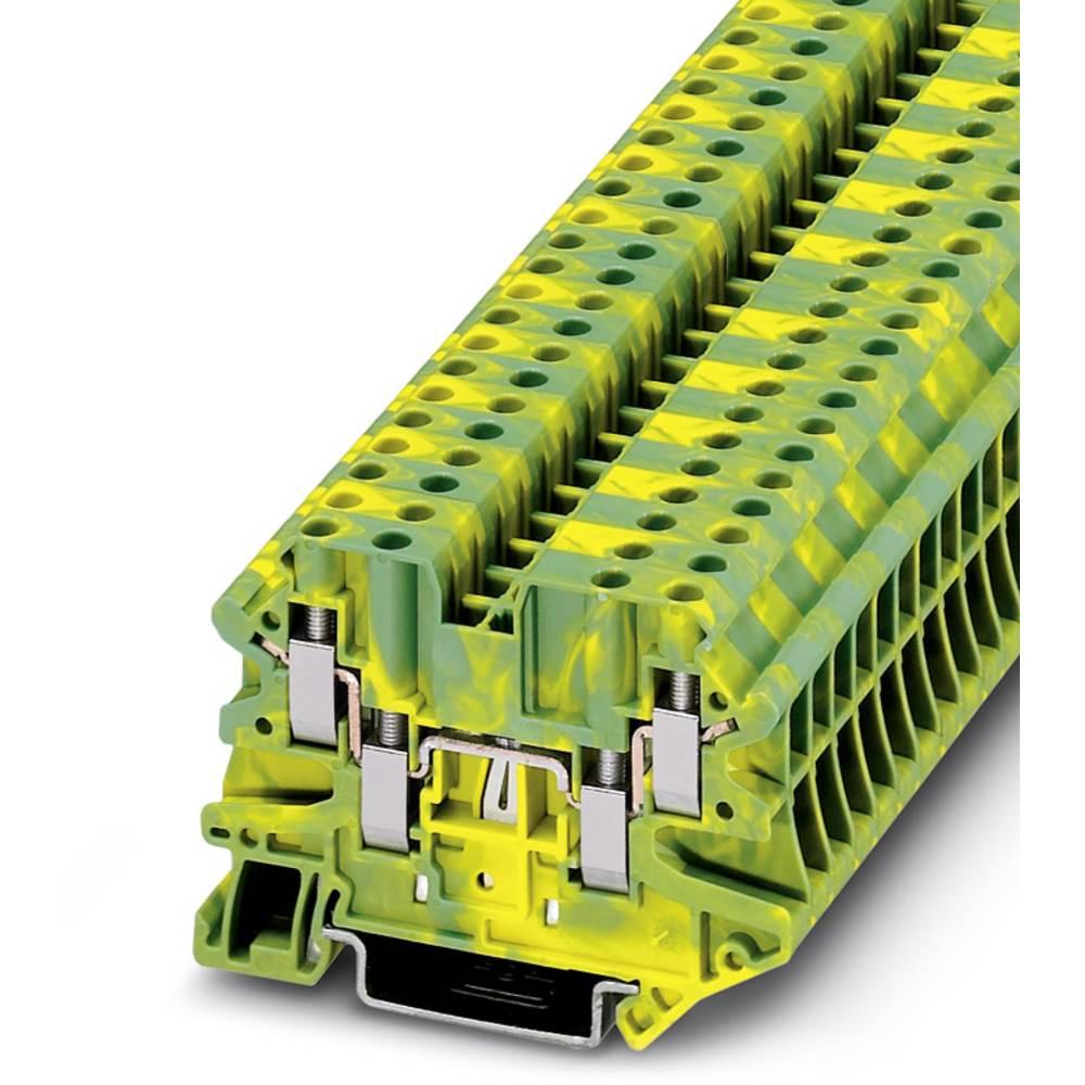 UT 4-QUATTRO-PE - fire-wire universelle beskyttelses ledningen Phoenix Contact UT 4-QUATTRO-PE Grøn-gul 50 stk