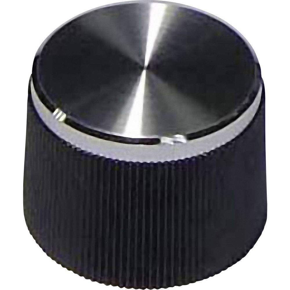 Plastični gumb, črni, premer osi 4 mm