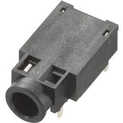 Vgradna priključna doza za JACK utikač, 3.5mm, za horizontalnu montažu, broj polova: 4/stereo, crn, 1 komad