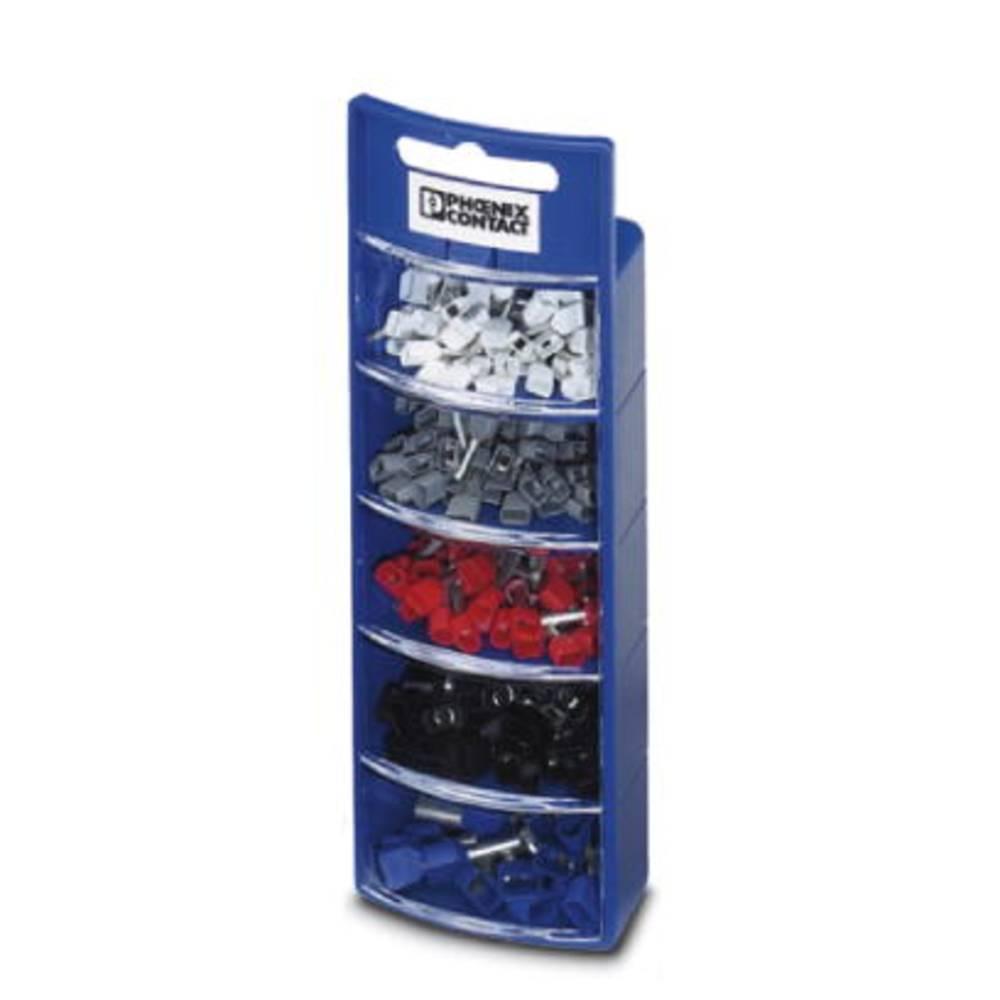 Sortiment dvostrukih kabelskih završetaka 0.5 mm 2.5 mm bijele, sive, crvene, crne, plave boje Phoenix Contact 3202986 225 kom.