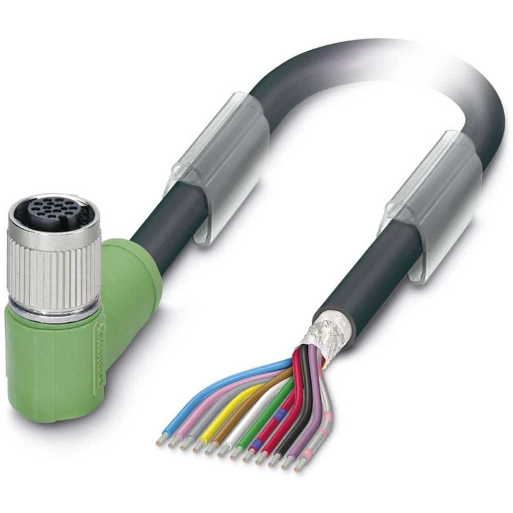 Sensor-, aktuator-stik, M12 Tilslutning, vinklet 5 m Pol-tal (RJ): 12 Phoenix Contact 1430187 SAC-12P- 5,0-35T/FR SH SCO 1 stk