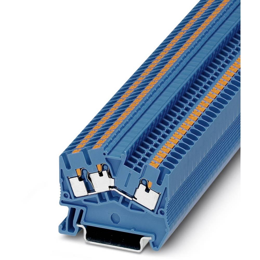 PTS 2.5-TWIN BU - gennem terminal Phoenix Contact PTS 2,5-TWIN BU Blå 50 stk
