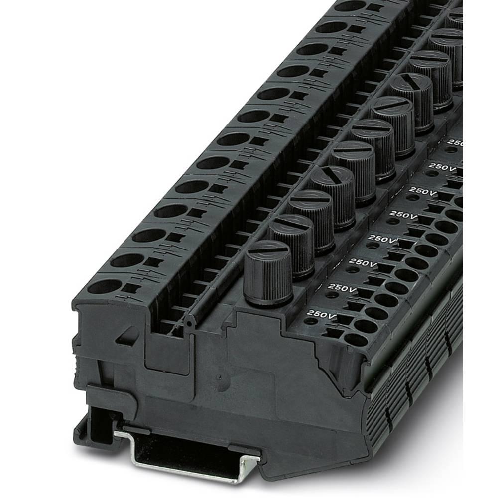 DT 6 / 2,5 DREHSILA 250 (5X20) - fuse terminal Phoenix Contact DT 6/2,5-DREHSILA 250 (5X20) Sort 25 stk