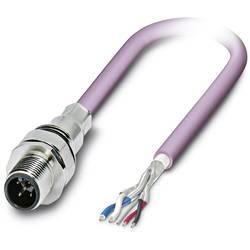 Sensor/ställdon-kontaktdon M12 Kontakt hane inbyggd 0.50 m Antal poler (RJ): 5 Phoenix Contact 1525623 SACCEC-M12MS-5CON-M16/ 0,