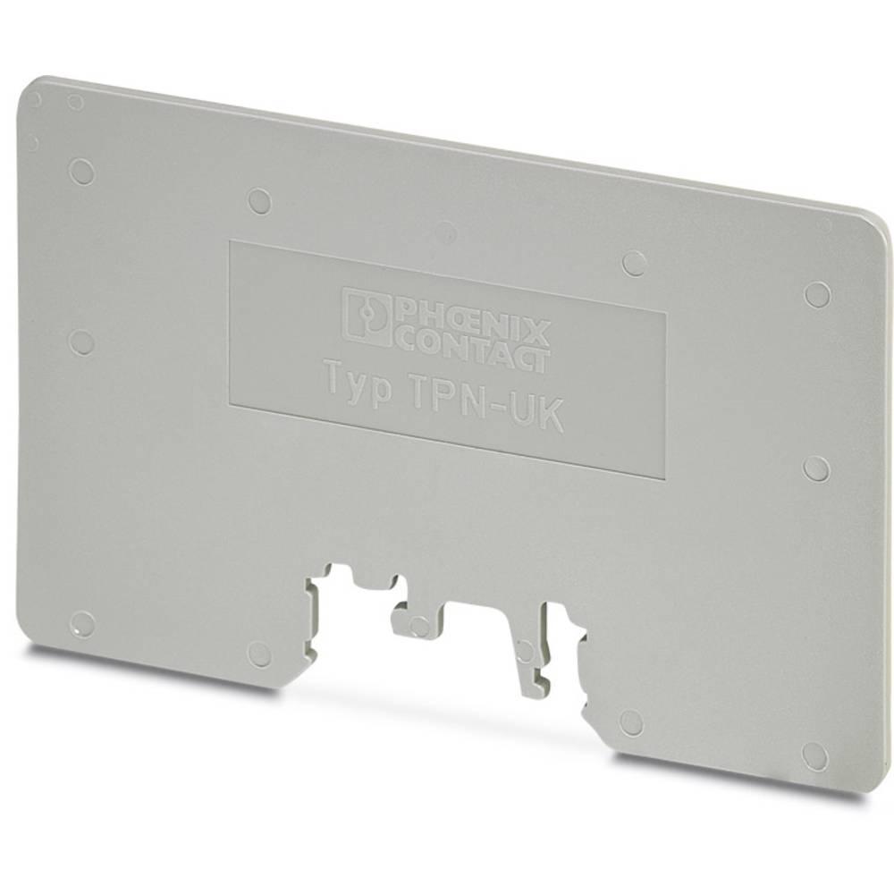 TPN-UK - adskillelse plade TPN-UK Phoenix Contact Indhold: 10 stk