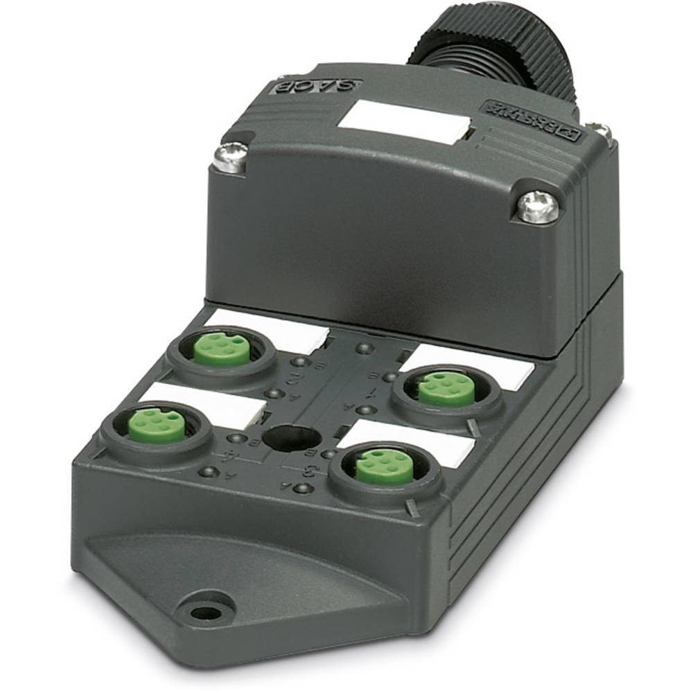 Sensor/aktorbox passiv M12-fordeler med kunststofgevind SACB-4/ 4-L-C SCO P 1452806 Phoenix Contact 1 stk