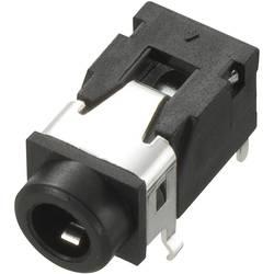 Montažna priključna doza za JACK utikač, 3.5mm, za horizontalnu montažu, broj polova: 4/stereo, crna, 1 komad