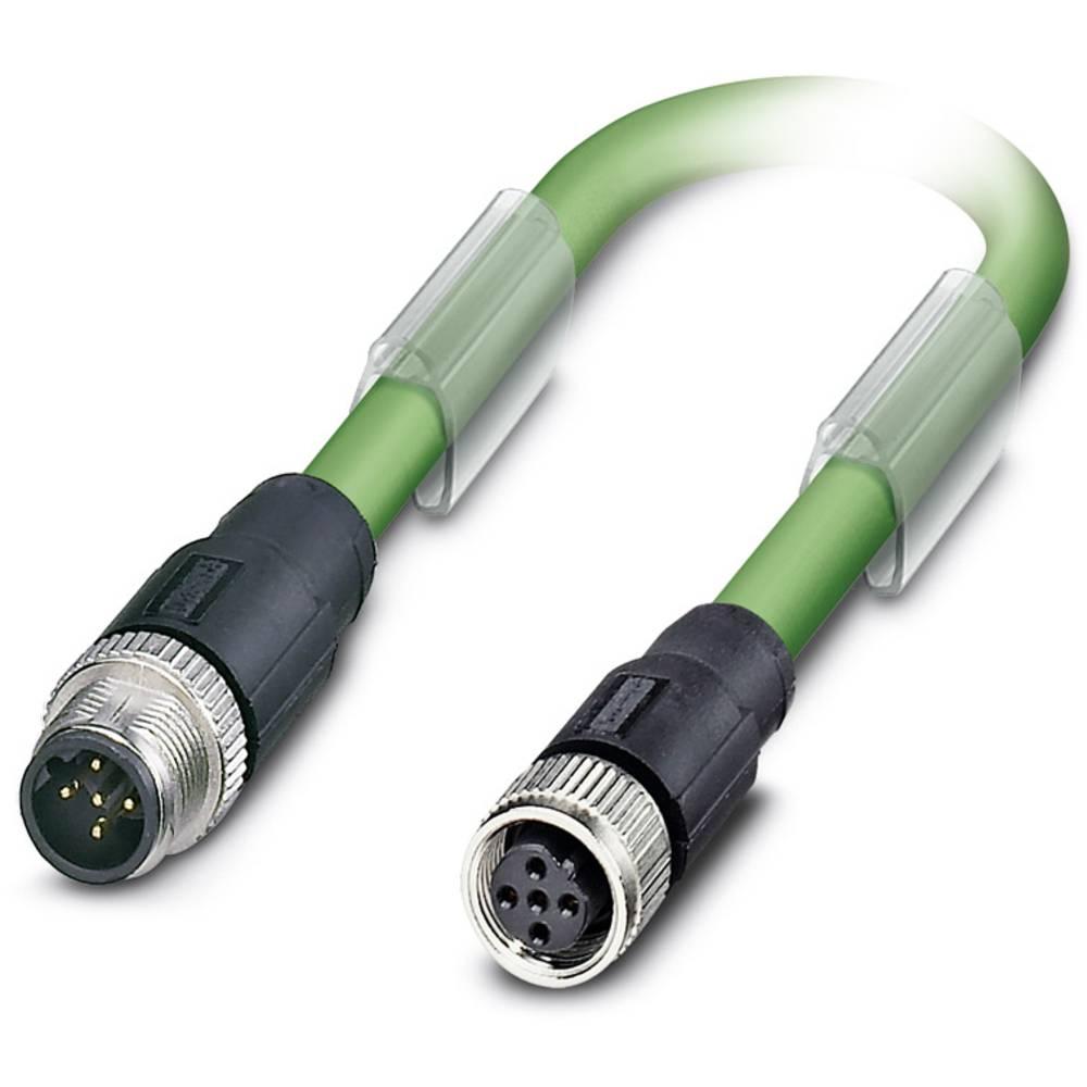 Sensor- /aktor- -datastikforbindelse, konfektioneret Phoenix Contact SAC-5P-M12MSB/ 0,5-900/M12FSB 1 stk