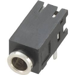 Montažna priključna doza za JACK utikač, 2.5mm, za horizontalnu montažu, broj polova: 3/stereo, crna, 1 komad