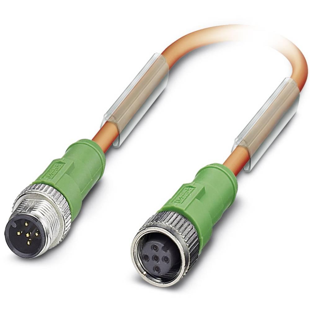 Sensor-, aktuator-stik, Phoenix Contact SAC-5P-M12MS/ 1,0-PUR/M12FS VW 1 stk