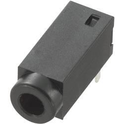 Montažna priključna doza za JACK utikač, 2.5mm, za horizontalnu montažu, broj polova: 2/mono, crna, 1 komad