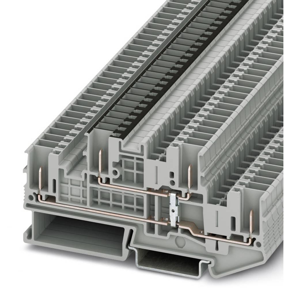 STTB 2.5 / 4P-PV - dobbelt-deck terminal Phoenix Contact STTB 2,5/4P-PV Grå 50 stk