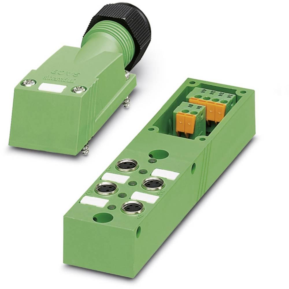 Sensor/aktorbox passiv M8-fordeler med metalgevind SACB- 4/3-L-SC-M8 1503386 Phoenix Contact 1 stk