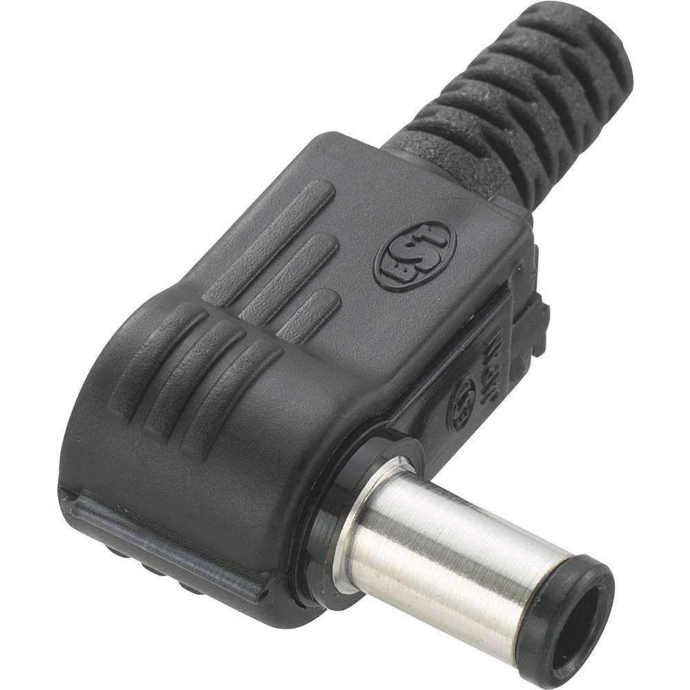 Lavspændingsstik Stik, vinklet 5.5 mm 1 mm Conrad Components 1 stk