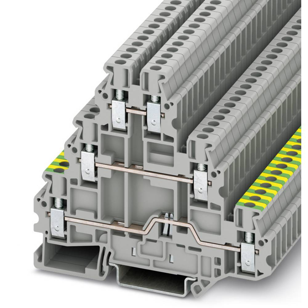 UT 2,5-PE / L / L - flere niveauer terminal Phoenix Contact UT 2,5-PE/L/L Grå 50 stk