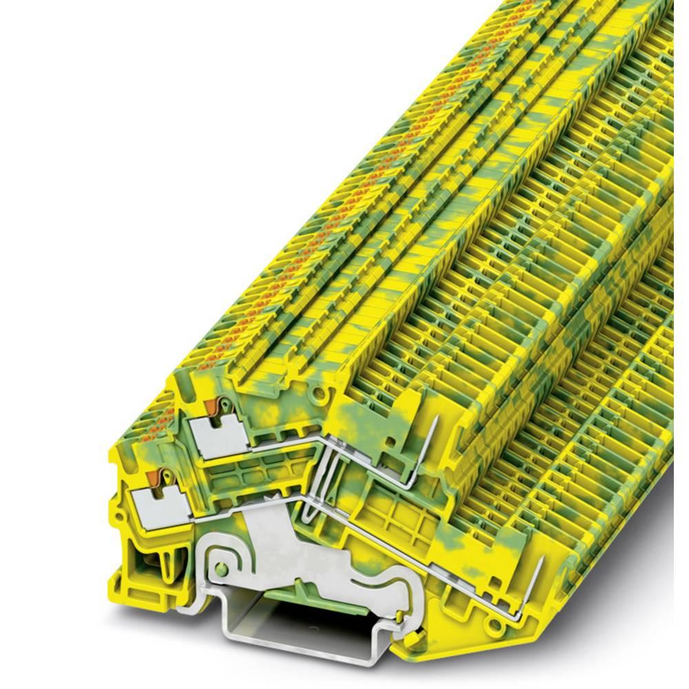 PTTBS 1.5 / S 2P-PE / - beskyttelsesleder dobbeltdækker terminal Phoenix Contact PTTBS 1,5/S/2P-PE Grøn-gul 50 stk
