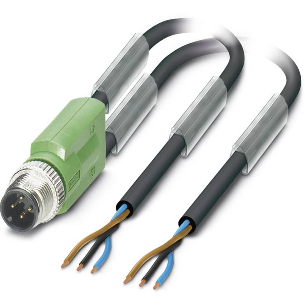 Sensor-, aktuator-stik, M12 Stik, lige 5 m Pol-tal (RJ): 3 Phoenix Contact 1669754 SAC-3P-M12Y/2X5,0-PUR 1 stk