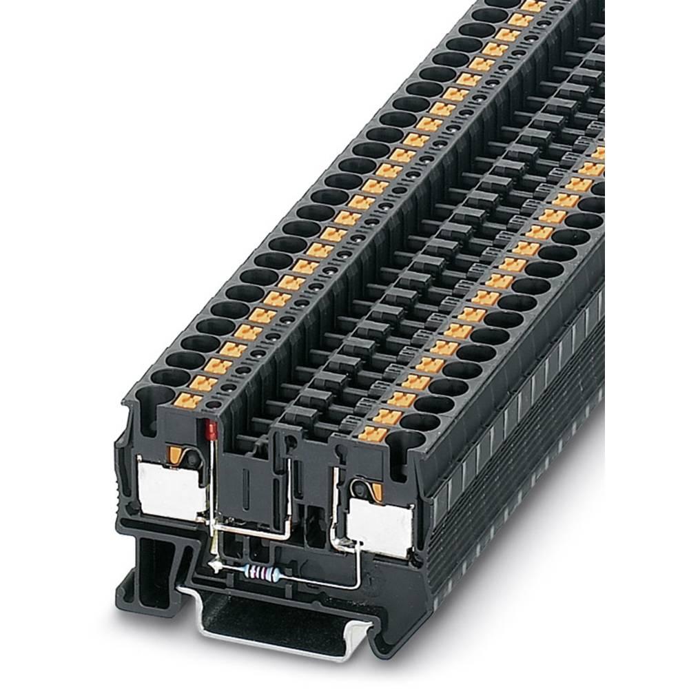 PT 4-FSI / F-LED 12 - fuse terminal Phoenix Contact PT 4-FSI/F-LED 12 Sort 50 stk