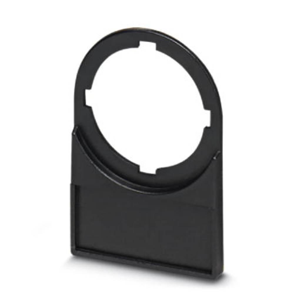 Nosilec oznak, montaža: pripenjanje, površina: 27 x 12.50 mm primeren za serijo gumbi in stikala 22 mm črne barve Phoenix Contac