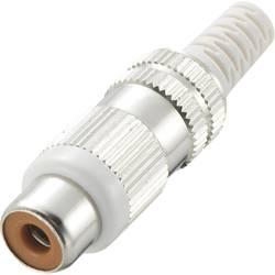 Činč konektor, ženski, ravni kontakti, broj polova: 2 bijel, 1 komad