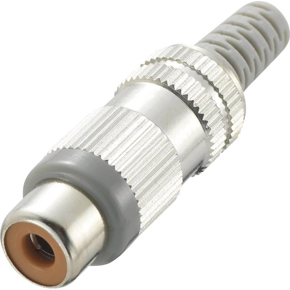 Činč konektor, ženski, ravni kontakti, število polov: 2 siv , 1 kos