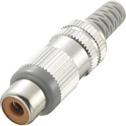 Činč konektor, ženski, ravni kontakti, broj polova: 2 siv , 1 komad