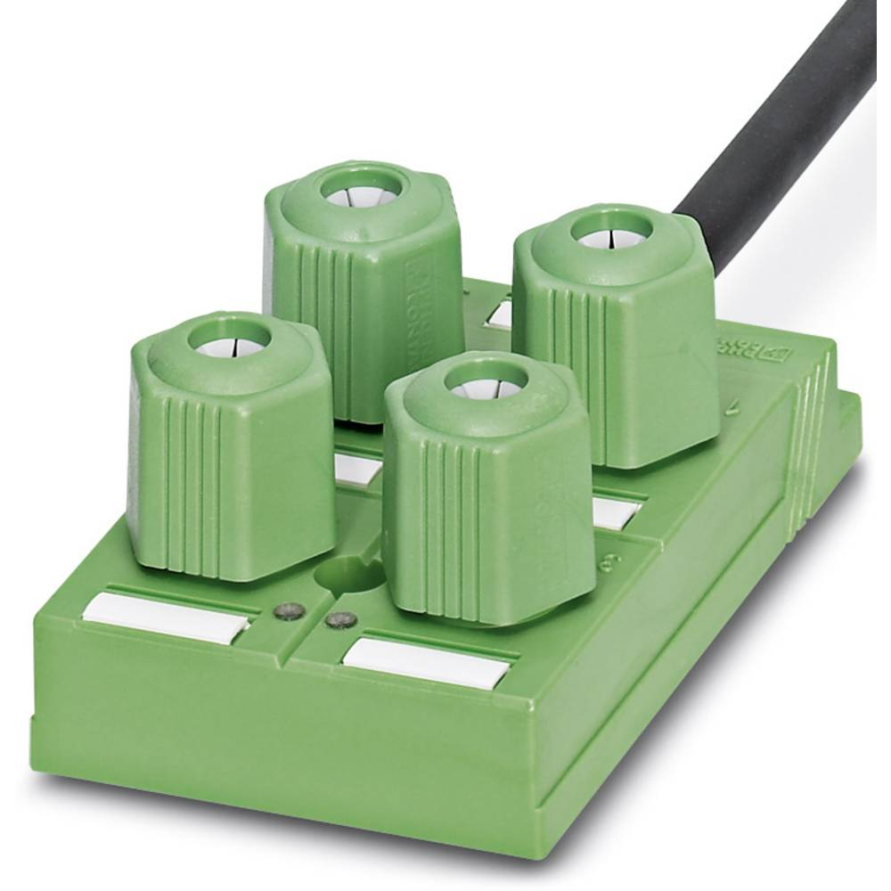 Sensor/aktorbox passiv QUICKON-fordeler SACB-4Q/4P-L- 5,0PUR 1695223 Phoenix Contact 1 stk