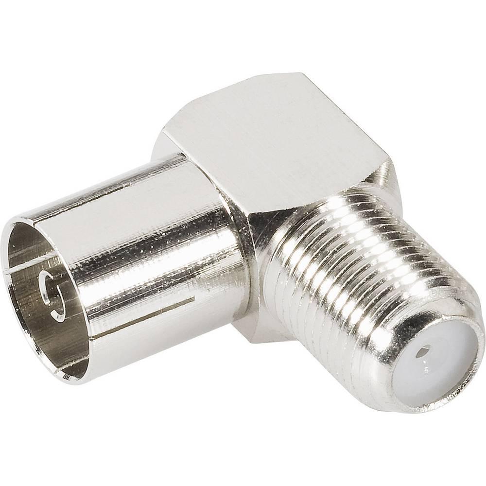 Koax-adapter Koax-Buchse (value.1390893) - F-Buchse (value.1390885) BKL Electronic 0403137 1 stk