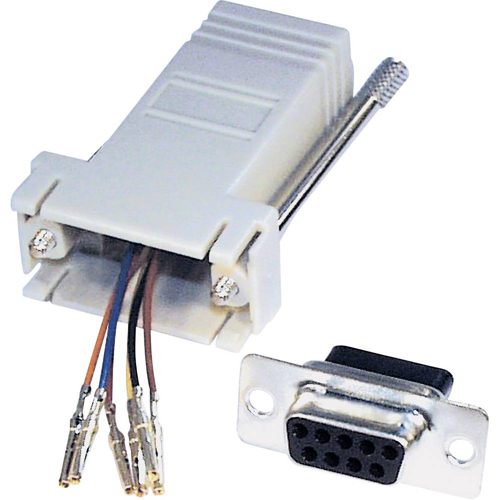 Adapter, iz D-SUB na RJ12, poli: 6/6, vsebina: 1 kos