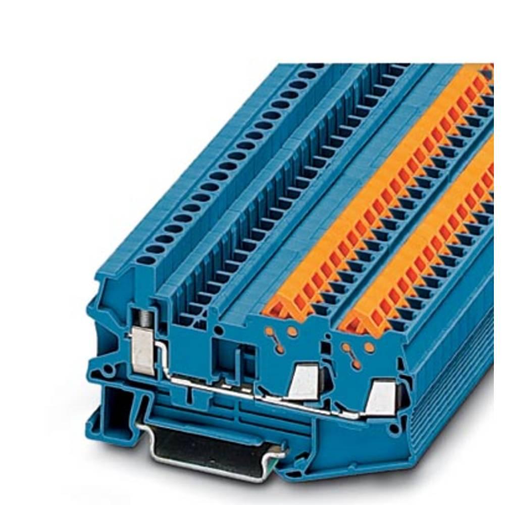 QTCU 1,5-TWIN BU - gennem terminal Phoenix Contact QTCU 1,5-TWIN BU Blå 50 stk