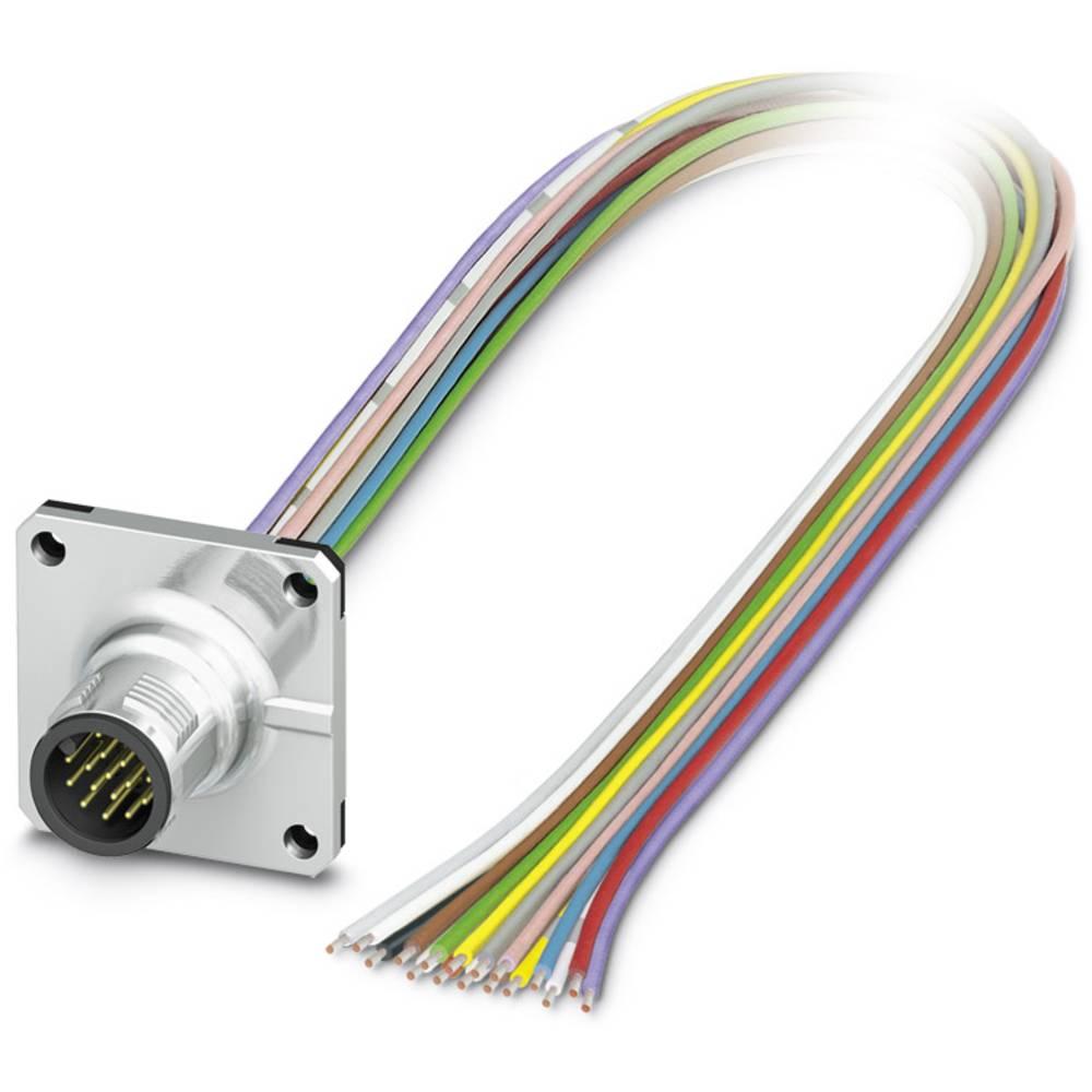SACC-SQ-M12MS-17CON-25F/0,5 - vgradni vtični konektor, SACC-SQ-M12MS-17CON-25F/0,5 Phoenix Contact vsebuje: 1 kos