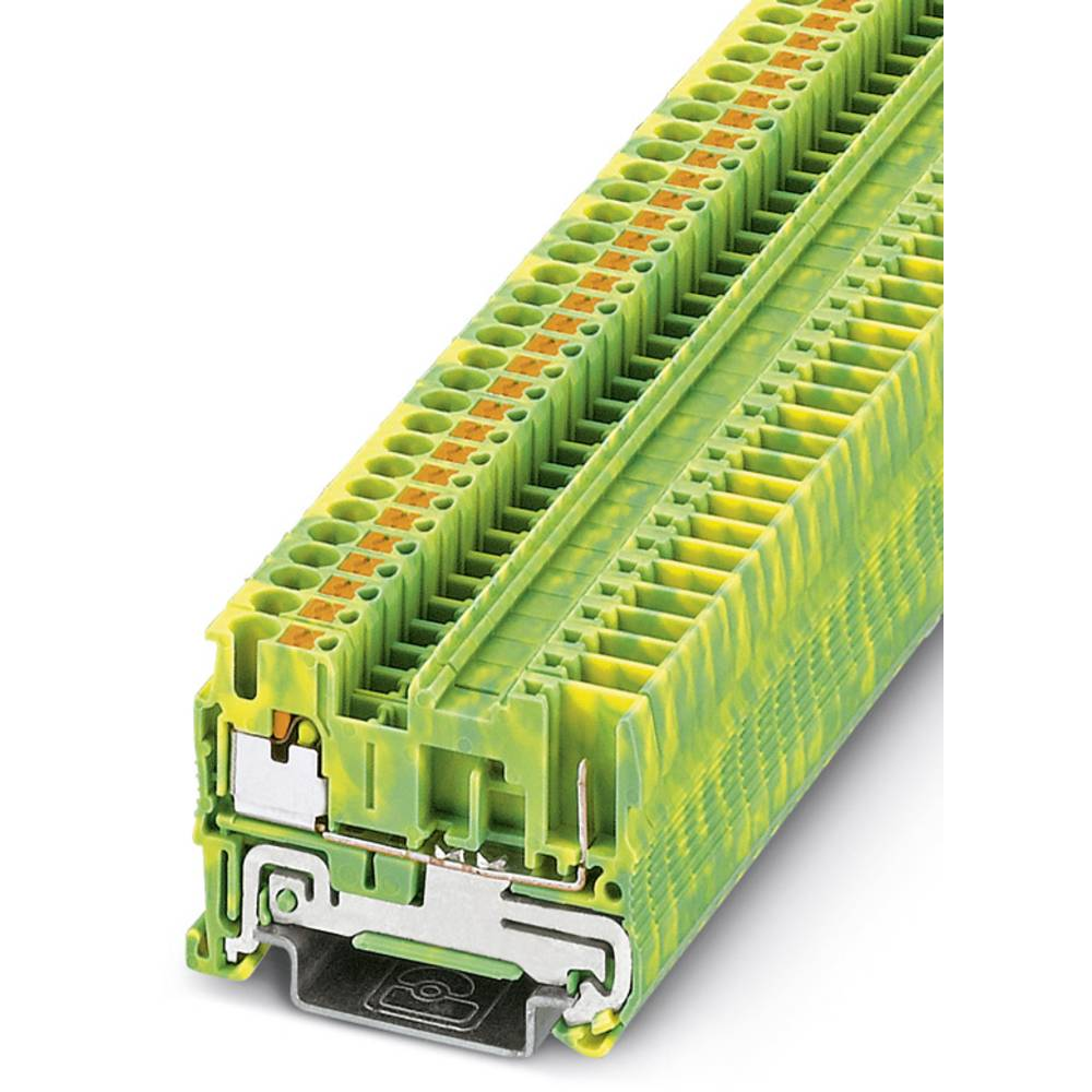 PT 2,5 / 1P-PE - beskyttelsesleder klemrække Phoenix Contact PT 2,5/1P-PE Grøn-gul 50 stk