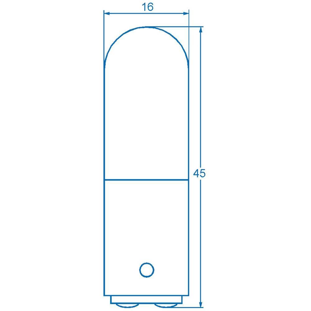 Cijevasta žarulja 220 - 260 V 6 - 10 W 38 mA podnožje=BA15d čista Barthelme sadržaj: 1 kom.