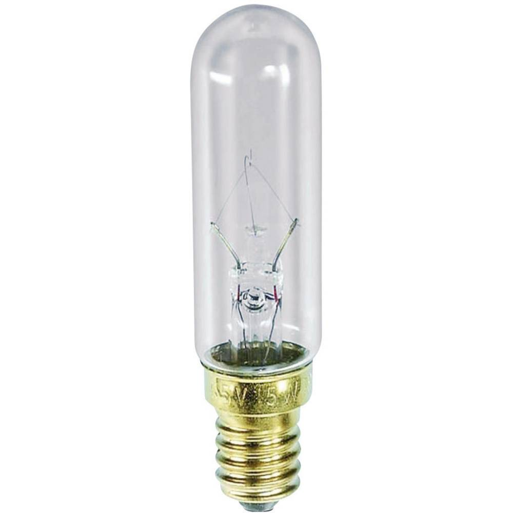 Cevasta žarnica 130 V 15 W 115 mA podnožje=E14 prozorna Barthelme vsebina: 1 kos