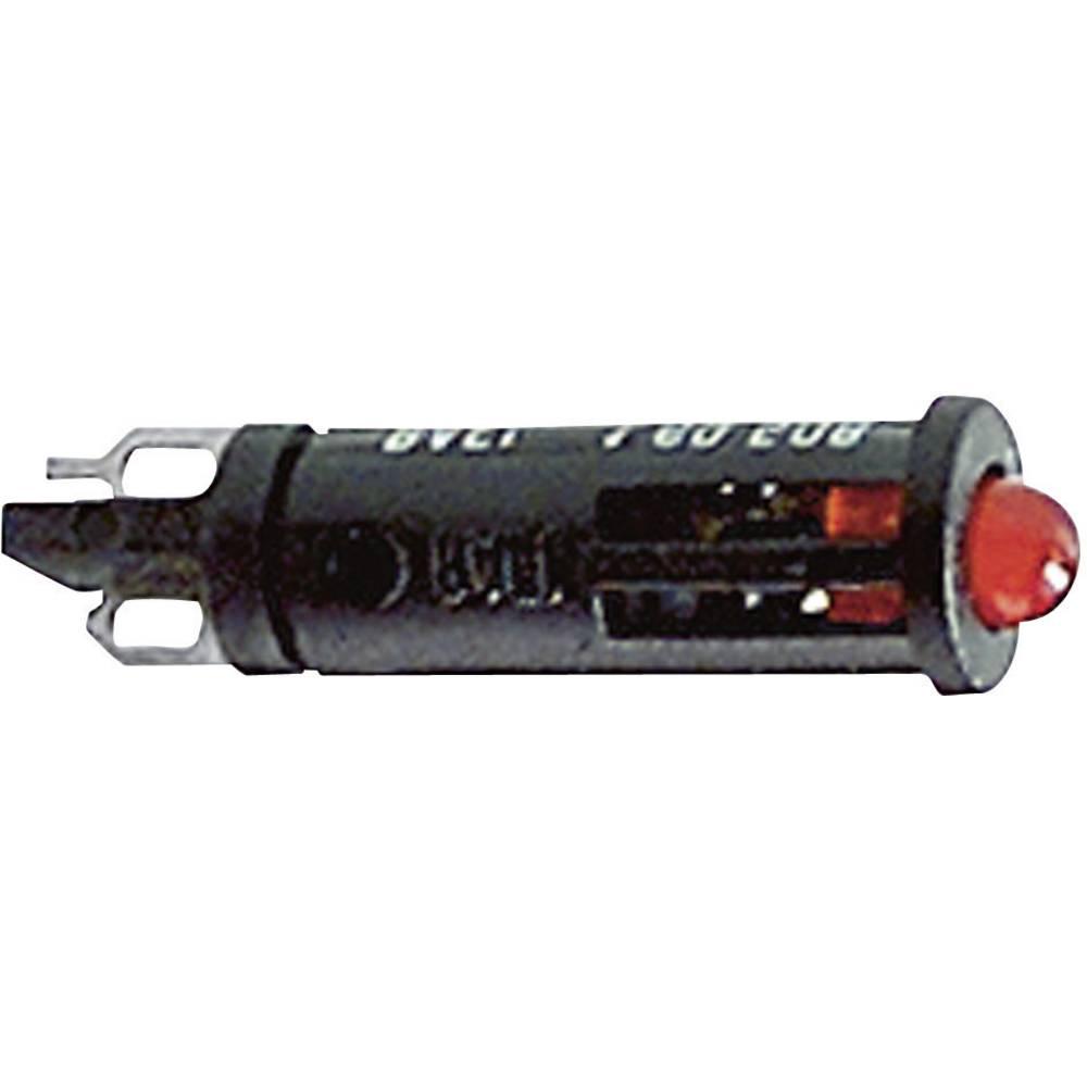 Signalna luč z LED diodo 24 - 28 V 8 - 12 mA rdeča (prozorna) RAFI vsebina: 1 kos