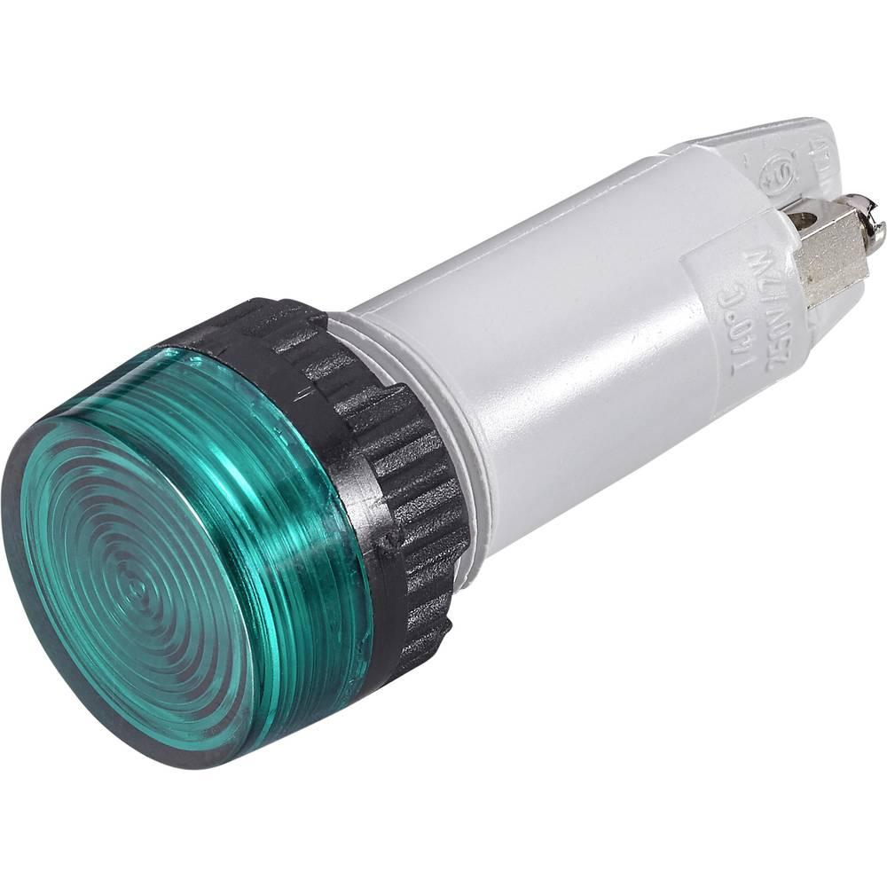 Signalna luč s podnožjem za žarnico, maks. 250 V 2 W podnožje=E10 zelena (prozorna) RAFI vsebina: 1 kos
