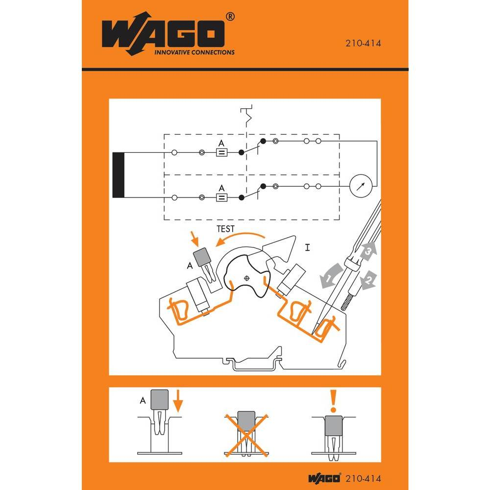 håndtering Stickers WAGO 100 stk