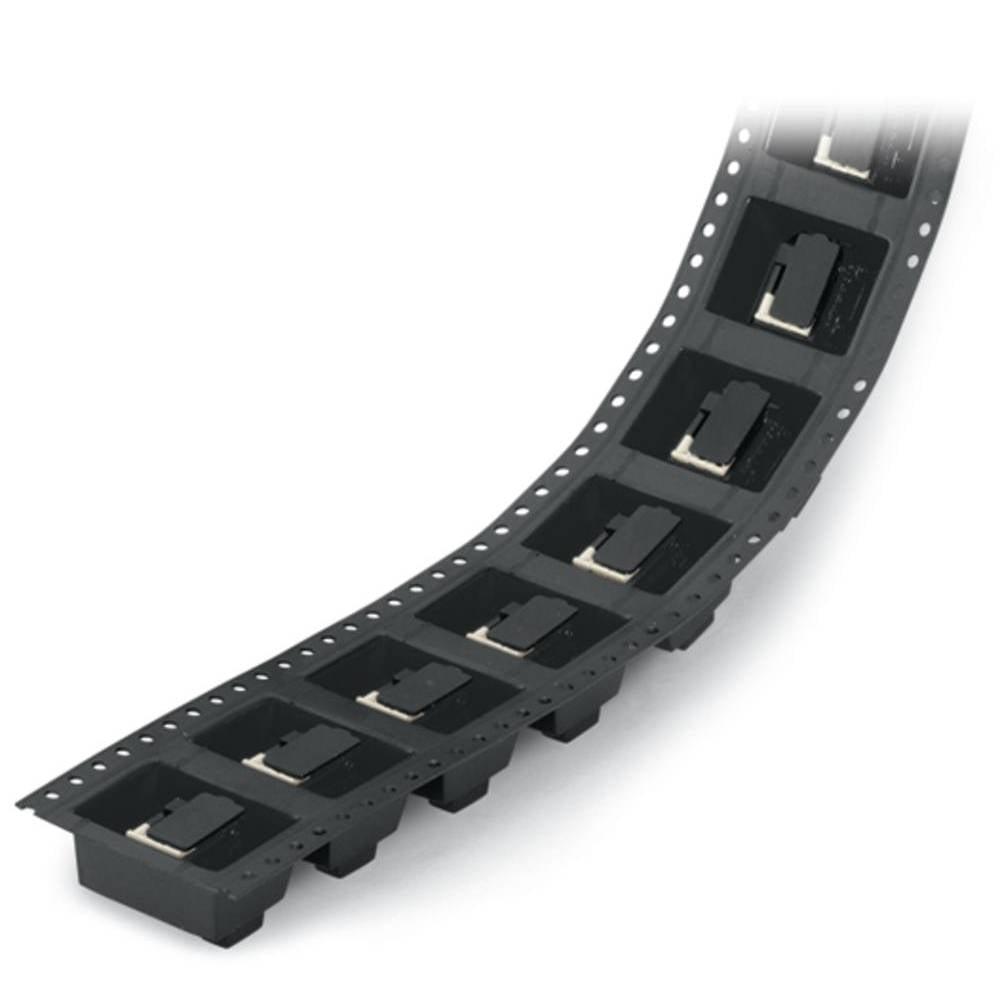 Fjederkraftsklemmeblok WAGO 0.50 mm² Poltal 6 Sort 250 stk