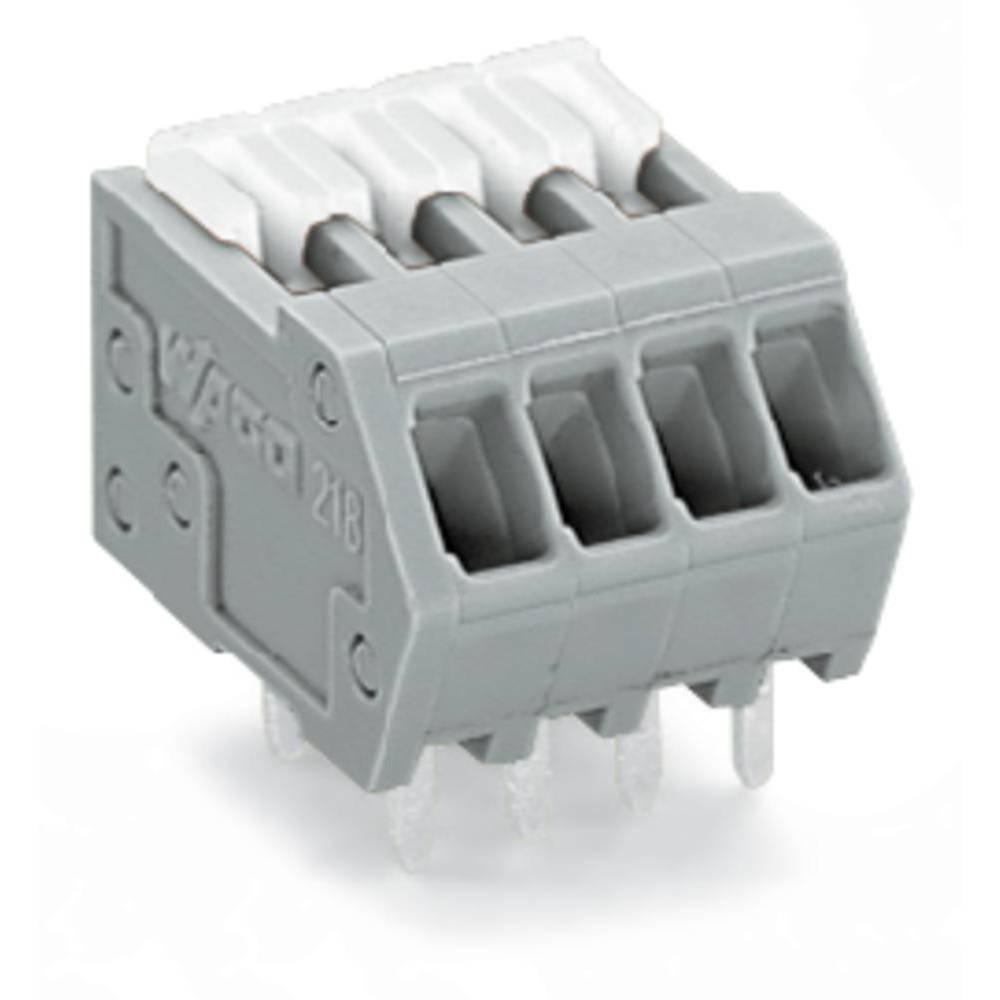 Fjederkraftsklemmeblok WAGO 0.50 mm² Poltal 19 Grå 80 stk