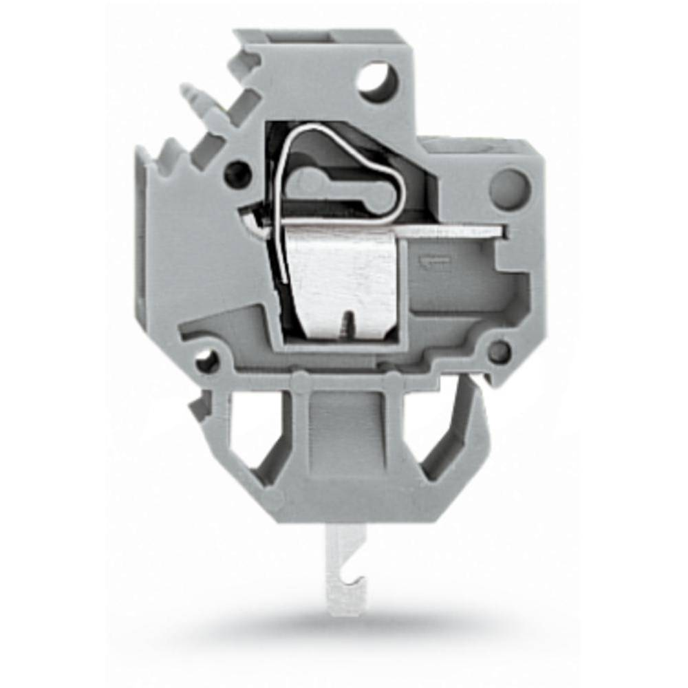 Fjederkraftsklemmeblok WAGO 4.00 mm² Poltal 1 Grå 200 stk