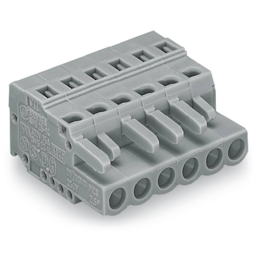 Industrial packaging unit, female multipoint socket Number of pins: 16 16 A Grey WAGO Content: 25 pc(s)