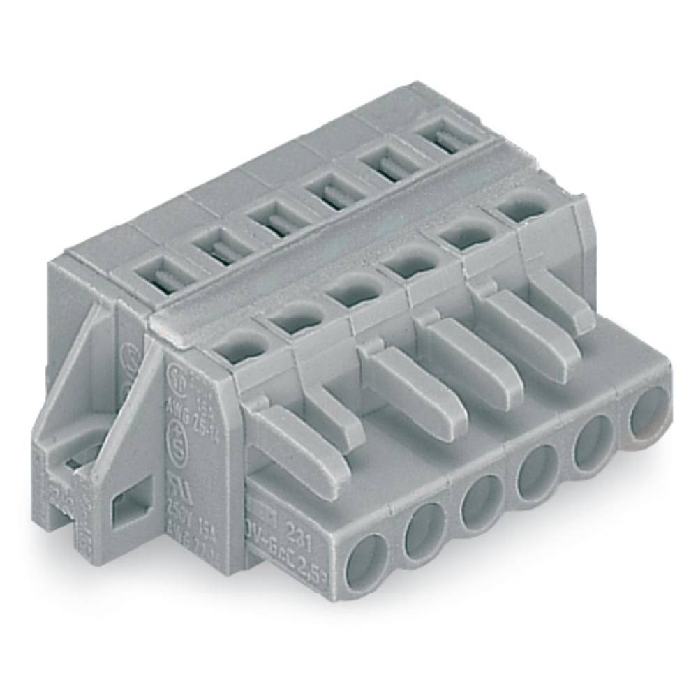 Industrial packaging unit, female multipoint socket Number of pins: 4 16 A Grey WAGO Content: 50 pc(s)