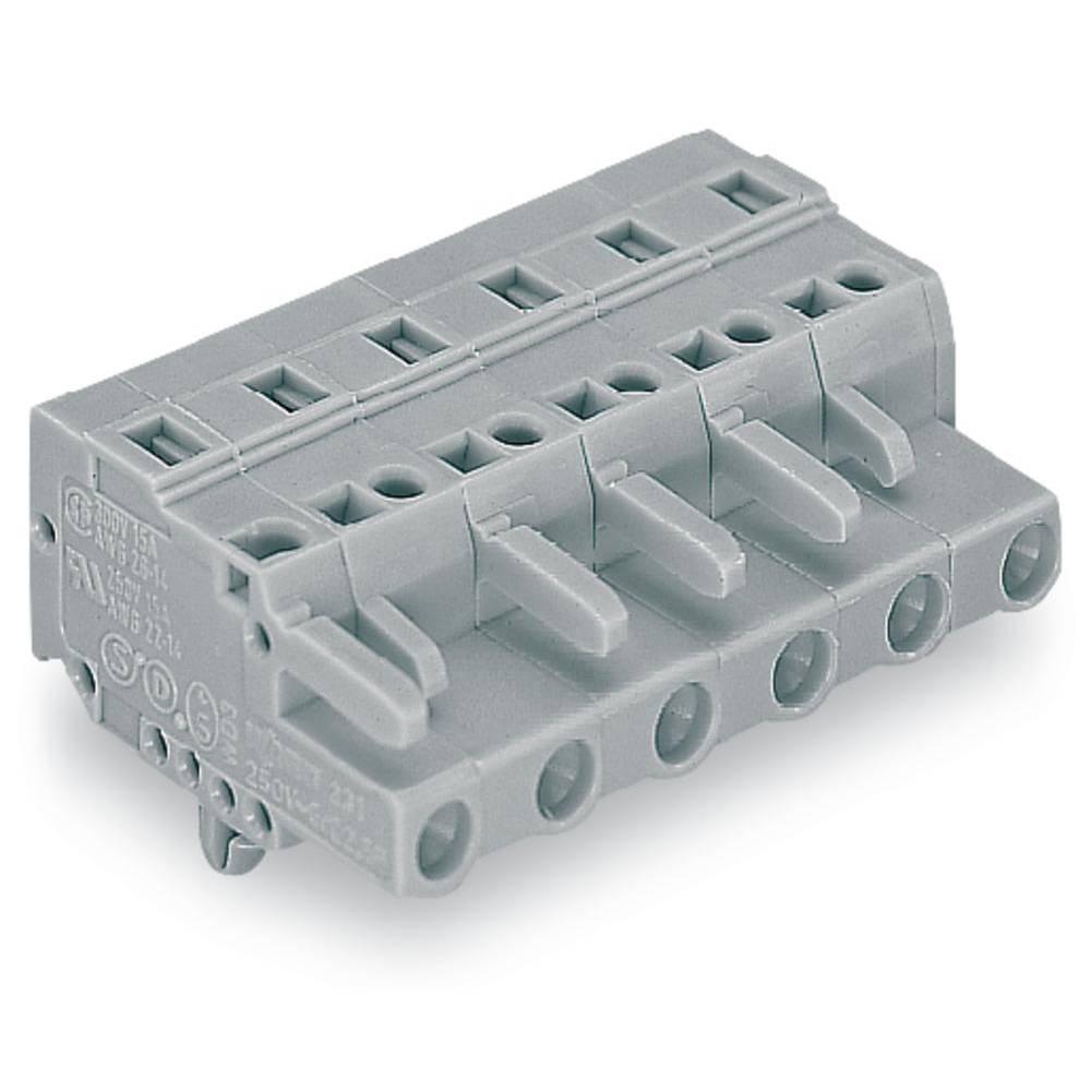 Tilslutningskabinet-kabel 231 Samlet antal poler 13 WAGO 231-213/008-000 Rastermål: 7.50 mm 10 stk