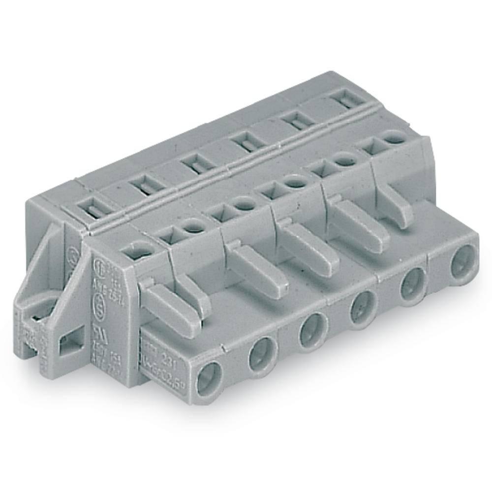 Tilslutningskabinet-kabel 231 (value.1360880) Samlet antal poler 4 WAGO 231-204/031-000 Rastermål: 7.50 mm 50 stk