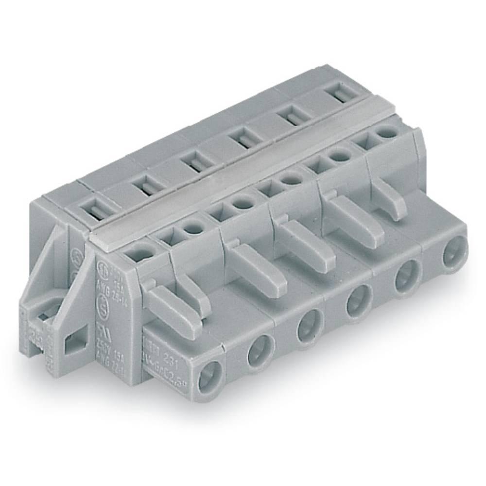Tilslutningskabinet-kabel 231 (value.1360880) Samlet antal poler 9 WAGO 231-209/027-000 Rastermål: 7.50 mm 25 stk