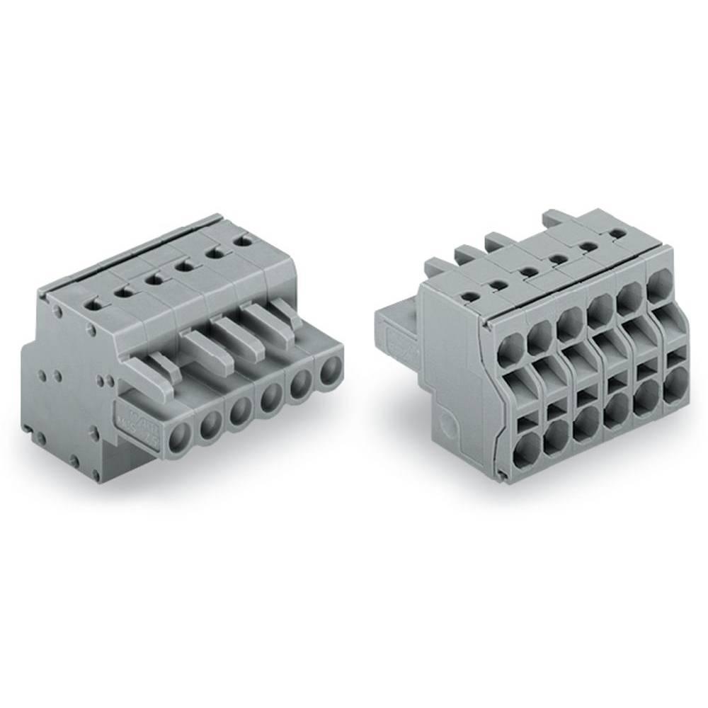 Tilslutningskabinet-kabel 231 Samlet antal poler 5 WAGO 231-2105/026-000/133-000 Rastermål: 5 mm 50 stk