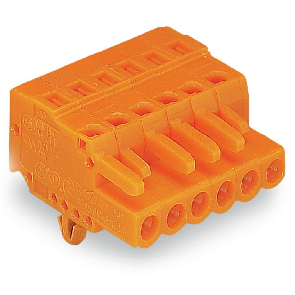 Tilslutningskabinet-kabel 231 (value.1360880) Samlet antal poler 5 WAGO 231-305/008-000 Rastermål: 5.08 mm 100 stk