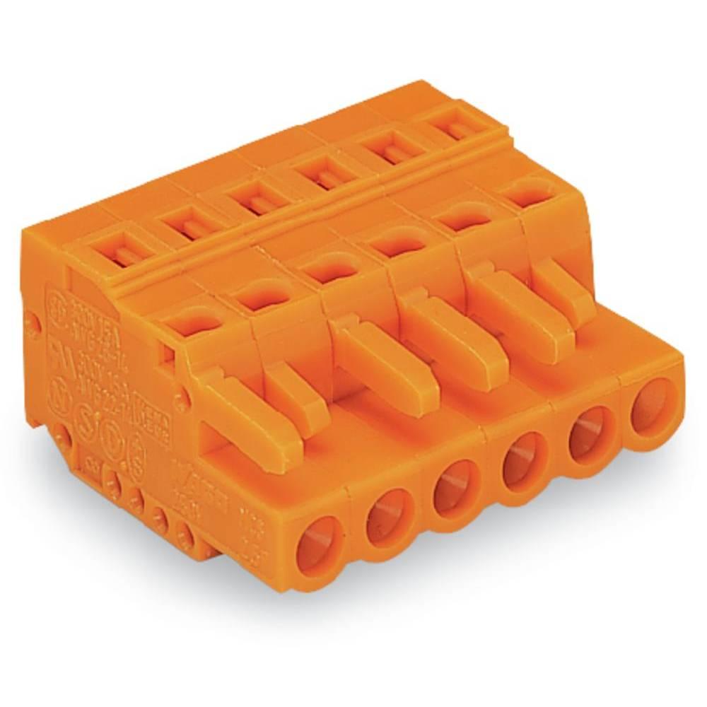 Tilslutningskabinet-kabel 231 (value.1360880) Samlet antal poler 6 WAGO 231-306/102-000 Rastermål: 5.08 mm 50 stk